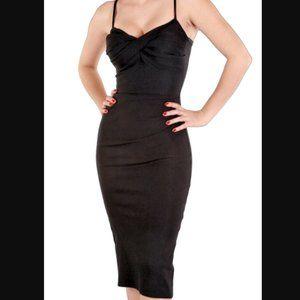 Stop Staring PinUp Retro Polka Dot Wiggle Dress XL